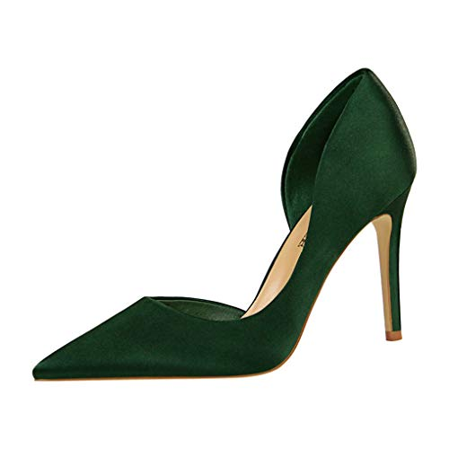 Womens-Sexy-Pointed-Toe-High-Heel-Slip-On-Stiletto-Pumps-Large-Size-Dress-Shoes-0