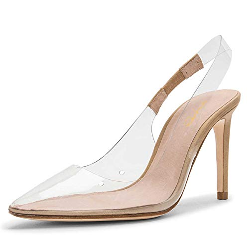 XYD-Women-Transparents-Pointed-Toe-Slingback-Pumps-Slip-on-Mid-Heels-Trendy-Party-Shoes-0