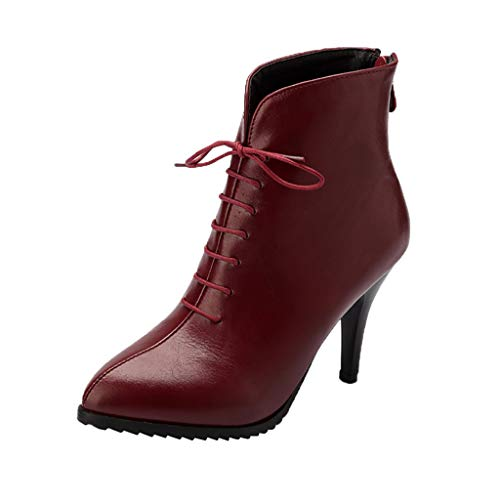 Cenglings-Womens-Pointed-Toe-Leather-Ankle-Boots-Zipper-Stiletto-Heel-Pumps-Lace-Up-Zipper-Slip-On-Winter-Booties-Red-0