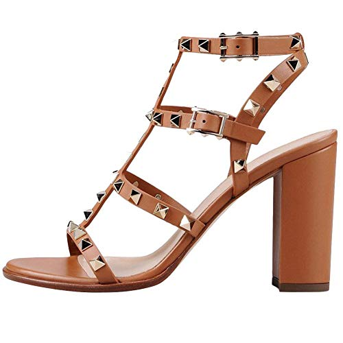 Comfity-Womens-Rivets-Studded-Slingback-Gladiator-Shoes-Ankle-Strap-Block-Heel-Dress-Sandals-0