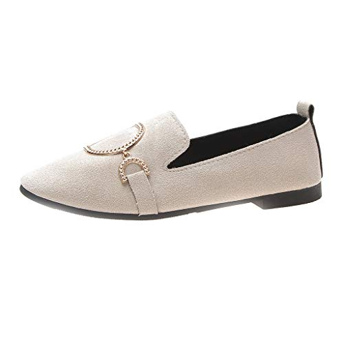 Fashion-Leisure-Women-Flats-Square-Head-Shallow-Mouth-Low-Heeled-Peas-Boat-Shoes-0