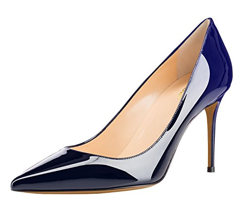 Guoar-Womens-Flattering-Gradient-Pointed-Toe-High-Heels-Stiletto-Grossy-Pumps-Dress-Shoes-Size-5-12-Black-RoyalBlue-US-11-0