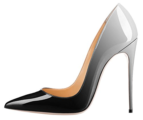 Guoar-Womens-Gradient-Shallow-Pointed-Toe-High-Heels-Black-and-White-Pumps-Shoes-US6-0