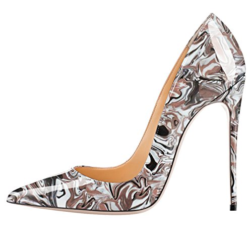 Guoar-Womens-Multicolor-Big-Size-Pointed-Toe-Stiletto-High-Heels-Pumps-Shoes-Brown-Abstract-Cloud-US105-0
