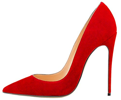 Guoar-Womens-Pointed-Toe-High-Heel-Solid-Party-Pumps-Red-Suede-Shoes-US75-0