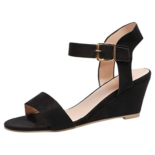 Gyouanime-Women-Mid-Heel-Sandals-Office-Sandals-Slippers-Buckle-Strap-Roman-Shoes-Sandals-Outdoor-Workout-Sandals-Shoes-Black-0