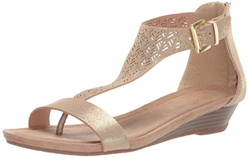 Kenneth-Cole-REACTION-Womens-Great-City-3-T-Strap-Low-Wedge-Sandal-Soft-Gold-13-M-US-0