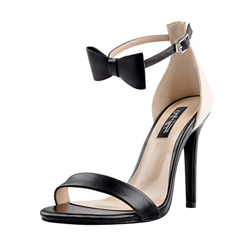 Onlymaker-Womens-Ankle-Strap-High-Heel-Open-Toe-Sandals-with-Bow-Single-Band-Party-Dating-Dress-Shoes-Black-13-M-US-0