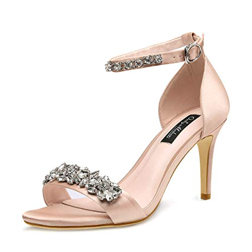 Onlymaker-Womens-Ankle-Strap-Strappy-Rhinestone-Sandals-Jewel-Embellished-High-Heel-Stiletto-Satin-Party-Wedding-Shoes-Nude-13-M-US-0