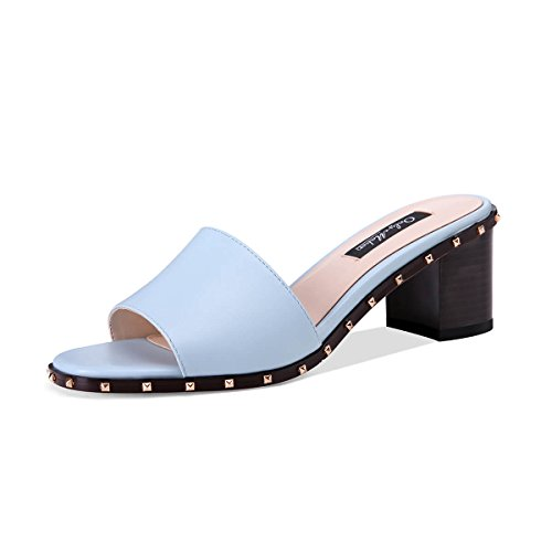 Onlymaker-Womens-Open-Toe-Chunky-Block-Heel-Slippers-Slide-Sandals-Rivets-Mules-Shoes-Casual-Heeled-for-Summer-Blue-Size-13-0