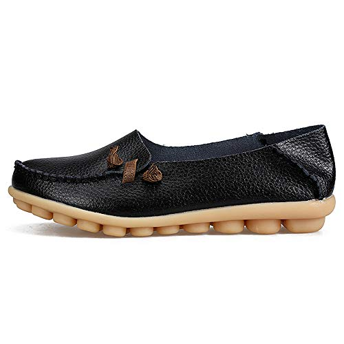 Women-Flat-Breathable-Soft-Bottom-Wild-Leisure-Peas-Boat-Casual-Shoes-BK42-0