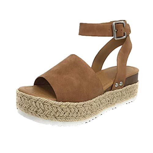 Womens-Casual-Espadrilles-Trim-Rubber-Sole-Flatform-Studded-Wedge-Buckle-Ankle-Strap-Open-Toe-Sandals-0