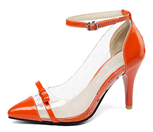 Aisun-Womens-Transparent-Burnished-Buckle-Pointed-Toe-Dressy-Stiletto-High-Heel-Ankle-Strap-Pumps-Shoes-with-Bow-Orange-13-M-US-0