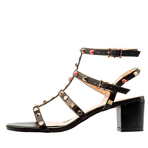 Comfity-Sandals-for-WomenRivets-Studded-Strappy-Block-Heels-Slingback-Gladiator-Shoes-Cut-Out-Dress-Sandals-0