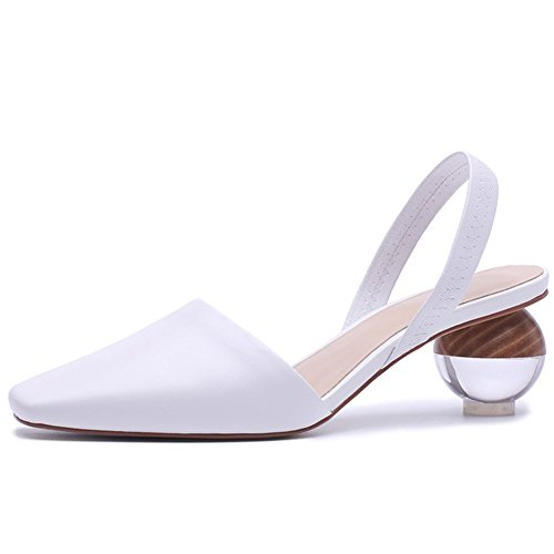 Kmeioo-Pumps-for-Women-Clear-Heel-Sandals-Square-Toe-Slingback-Pumps-Slip-On-Wedding-Dress-Shoes-White-0