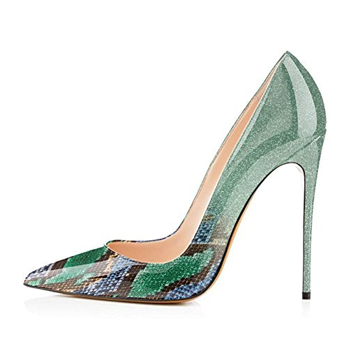 Onlymaker-Pointed-Toe-Pumps-Women-Stiletto-Wedding-Party-Shoes-Slip-On-Heeled-Large-Size-High-Heels-Green-US-13-0