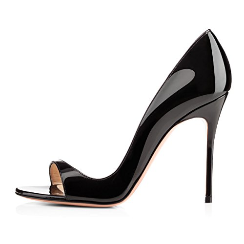 Onlymaker-Women-Fashion-Peep-Toe-Heeled-Sandals-Slip-On-High-Heels-Pumps-for-Party-Dress-Black-13-M-US-0