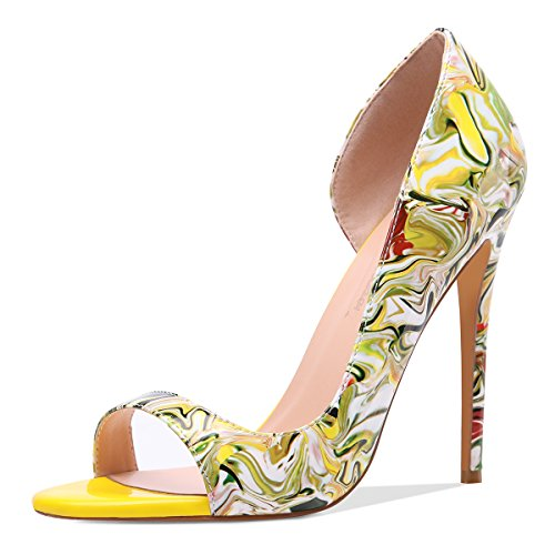 Onlymaker-Women-Fashion-Peep-Toe-Heeled-Sandals-Slip-On-High-Heels-Pumps-for-Party-Dress-Multicolor-Printing-13-M-US-0