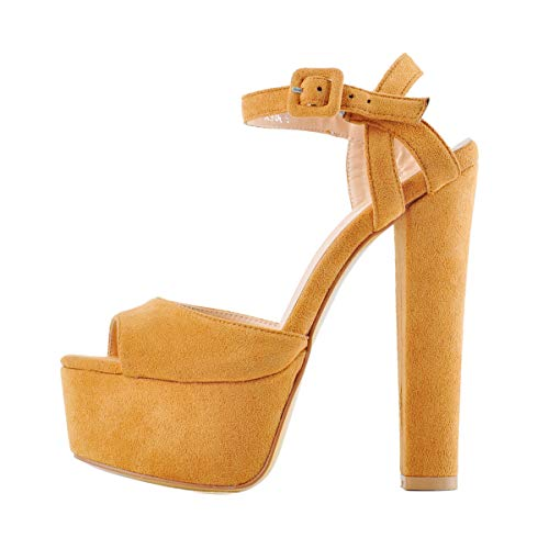 Onlymaker-Womens-Platform-Chunky-High-Heels-Faux-Suede-Ankle-Strap-Peep-Toe-Sandal-Pumps-Dress-Party-Shoes-Brown-13-M-US-0