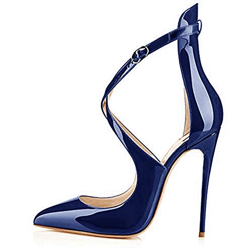 Onlymaker-Womens-Pointy-Toe-Crisscross-Strappy-High-Heels-Stiletto-Pumps-Ladies-Ankle-Strap-Heeled-Sandals-Party-Wedding-Dress-Shoes-Royal-Blue-US-13-0