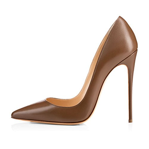 HANGGE-Women-Shoes-Thin-High-Heel-Stilettos-Pointed-Toe-Patent-Leather-Shoes-47-inch-Plus-Big-Size-15-Wedding-Pumps-Brand-H161202-5-0
