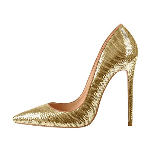 Onlymaker-High-Heel-Womens-Sexy-Pointed-Toe-Slip-On-Stiletto-Pumps-Party-Wedding-Banquet-Bling-Sequins-Shoes-Gold-US-9-0