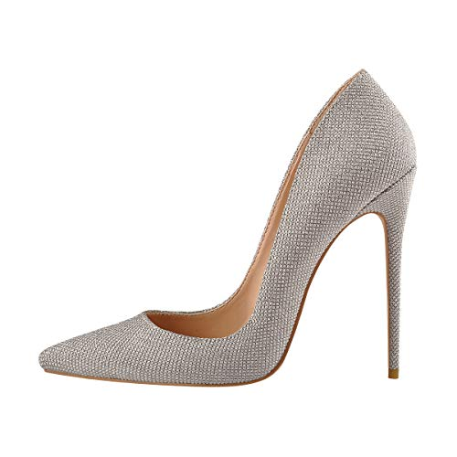 Onlymaker-Womens-Sexy-Pointed-Toe-High-Heel-Slip-On-Stiletto-Pumps-Party-Wedding-Banquet-Bling-Glitter-Large-Size-Basic-Shoes-Silver-US-7-0