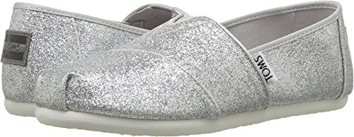 TOMS-Classic-Silver-Iridescent-Glimmer-Ankle-High-Slip-On-Shoes-13M-0