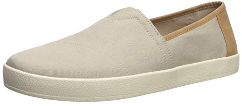 TOMS-Mens-Avalon-Loafer-Flat-Oxford-tan-Canvas-13-D-Medium-US-0