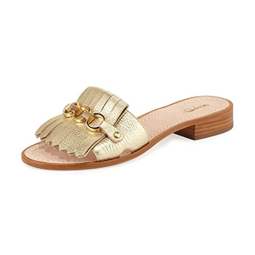 XYD-Women-Fashion-Open-Toe-Slide-Sandal-Flats-Leather-Slip-on-Out-Door-Dress-Slipper-Shoes-Siz3-13-Gold-0