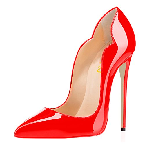 FSJ-Women-Classic-Pointed-Toe-High-Heels-Sexy-Stiletto-Pumps-Office-Lady-Dress-Shoes-Size-10-Red-0