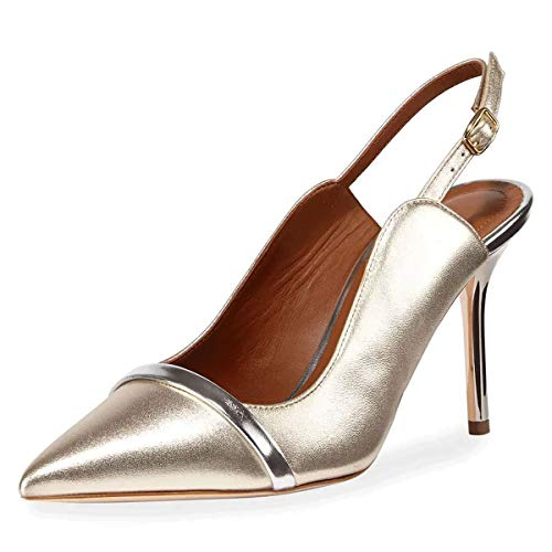 FSJ-Women-Classy-Pointed-Toe-Thin-High-Heels-Slingback-Pumps-Office-Prom-Dress-Shoes-Size-11-Gold-0