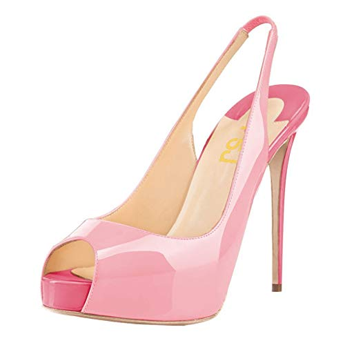 FSJ-Women-Peep-Toe-Extreme-High-Heels-Platform-Sandals-Slingback-Stiletto-Prom-Dress-Pumps-Size-85-Pink-0