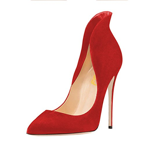 FSJ-Women-Sexy-Prom-Pumps-Pointy-Toe-High-Heels-Dress-Shoes-Stilettos-Size-9-Red-0