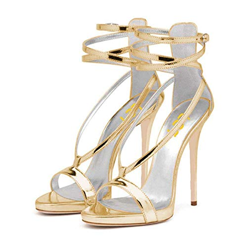 FSJ-Women-Sexy-Strappy-Sandals-for-Wedding-Open-Toe-Metallic-High-Heels-Pumps-Shoes-Size-95-Gold-0