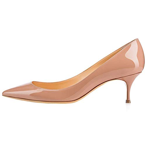 Kmeioo-Pumps-for-Women-Womens-Slip-On-Kitten-Heels-Pointed-Toe-Low-Heels-Office-Pumps-0