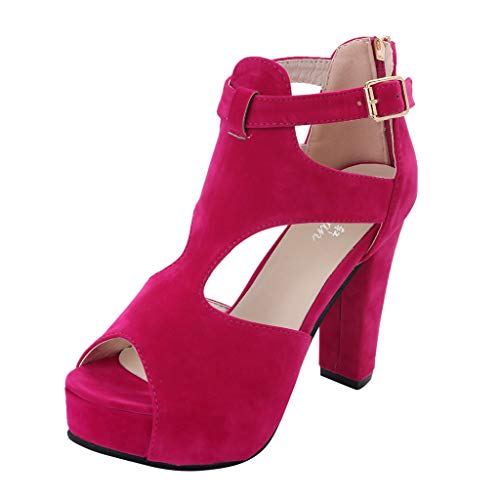 Ladies-Platform-Pumps-Peep-Toe-Ankle-Strap-High-Heel-Sandals-Casual-Single-Shoes-0