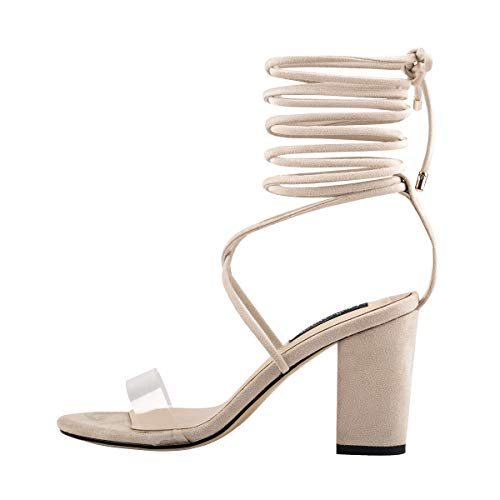Onlymaker-Womens-Ankle-Strap-Lace-up-Clear-Chunky-High-Heel-Gladiator-Open-Toe-Heeled-Strappy-Sandals-Nude-13-M-US-0