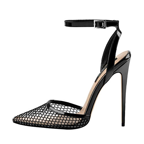 Onlymaker-Womens-Clear-PVC-Pointed-Toe-Pumps-Stiletto-Summer-Shoes-Black-US13-0