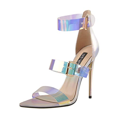 Onlymaker-Womens-Pointy-Open-Toe-Clear-Heels-Holographic-Ankle-Strap-Stilettos-High-Heels-Shoes-Size-13-0