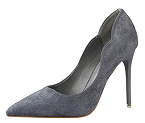 Womens-Closed-Toe-High-Heels-Stiletto-Dress-Pumps-Pointy-Toe-Sexy-Party-ShoesGrayLable-398-BM-US-Women-0