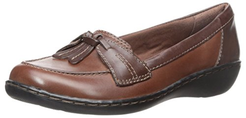 CLARKS-Womens-Ashland-Bubble-Slip-On-Loafers-Brown-Multi-9-WW-0