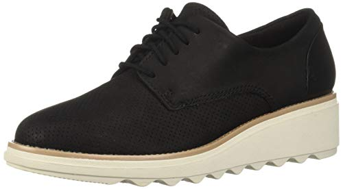 CLARKS-Womens-Sharon-Crystal-Oxford-Black-NubuckLeather-Combi-7-M-US-0