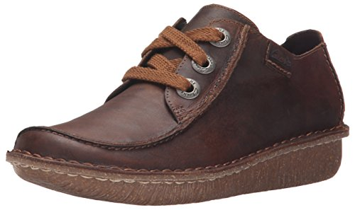 Clarks-Womens-Funny-Dream-Oxford-Brown-Leather-75-M-US-0