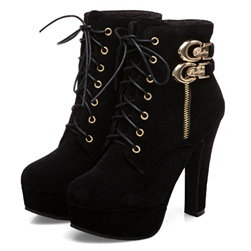 Susanny-Womens-Sexy-Martin-Boots-Platform-Chunky-High-Heels-Ankle-Booties-Lace-Up-Zipper-Autumn-Winter-Shoes-Black-7-B-M-US-0