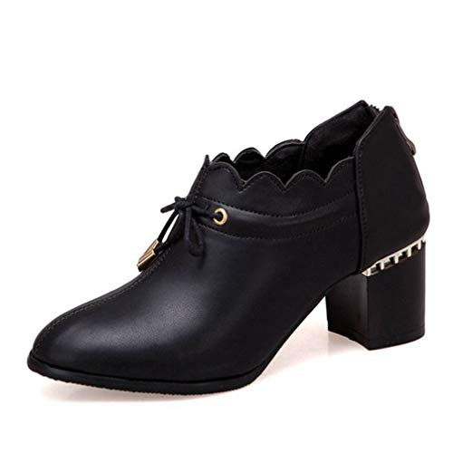 Womens-Pointed-Toe-Oxford-Loafers-Lace-Up-Comfort-Chunky-Mid-Heel-Vintage-Brogues-Dress-Pump-Oxfords-Loafer-Black-0