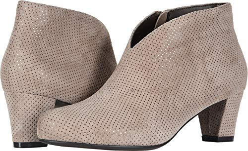 David-Tate-Womens-Fame-Taupe-Suede-Dots-95-D-US-0