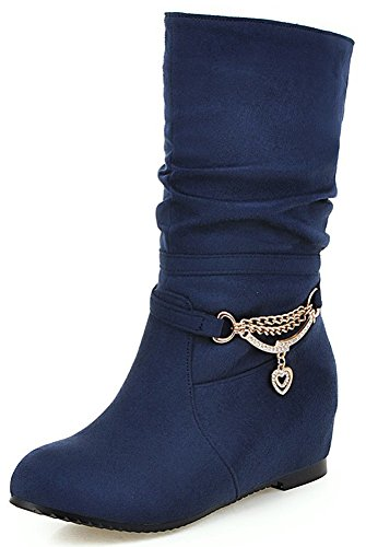 Mofri-Womens-Adorable-Faux-Suede-Rhinestone-Round-Toe-Low-Hidden-Wedge-Heel-Pull-on-Slouchy-Mid-Calf-Boots-Navy-Blue-10-BM-US-0