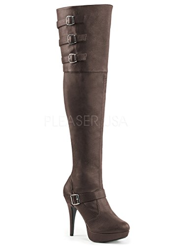 Pleaser-Pink-Label-Womens-Chloe308Bnpu-Boot-Brown-Faux-Leather-15-M-US-0