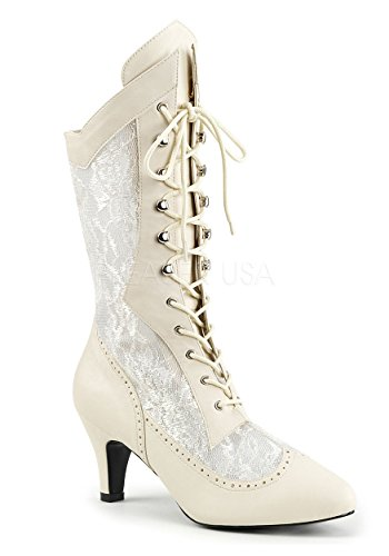 Pleaser-Pink-Label-Womens-Div1050Ivpu-Salc-Boot-Ivory-Faux-Leather-Satin-Lace-16-M-US-0